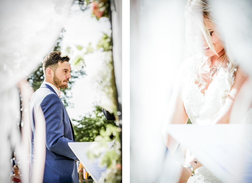 Portrait des mariés à la cérémonie