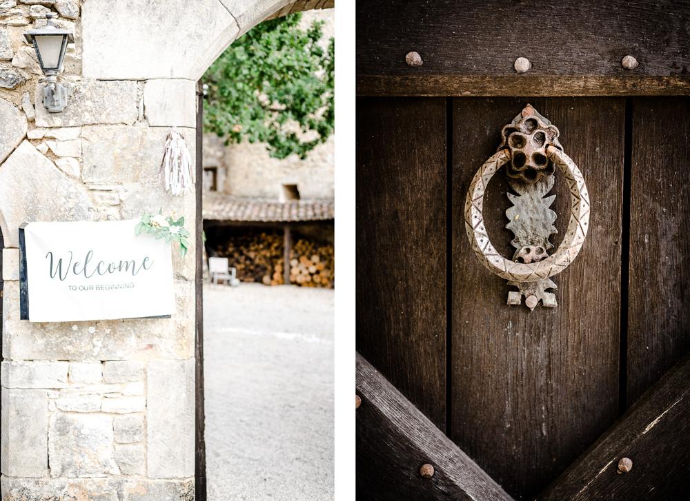décoration de porte pour un mariage à Castres