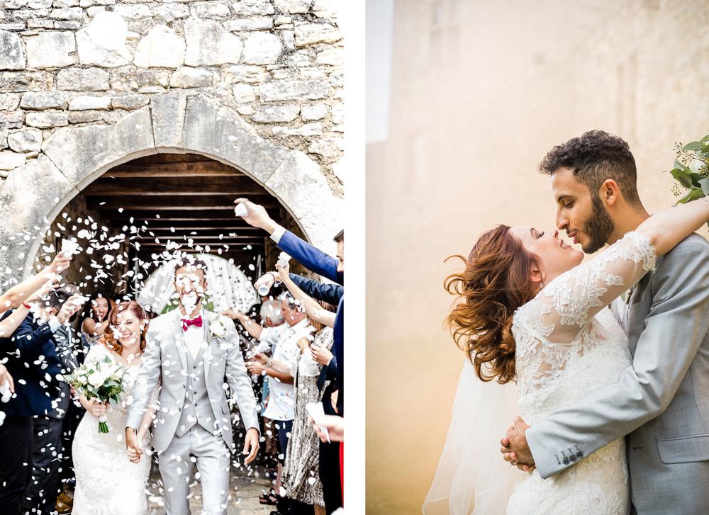 couple de mariés après la cérémonie laique