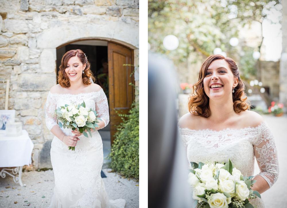arrivée de la mariée au château de Roussillon