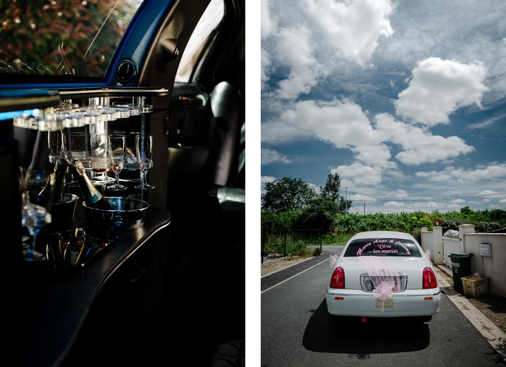 Limousine intérieur et extérieur