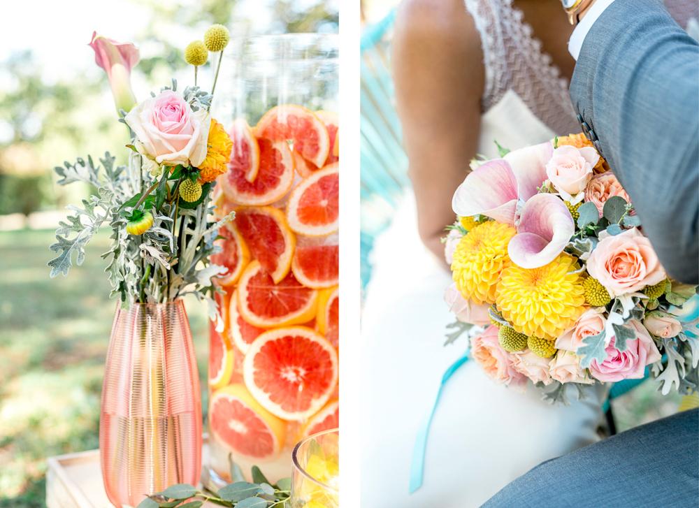 Compositions florales bouquet et vase
