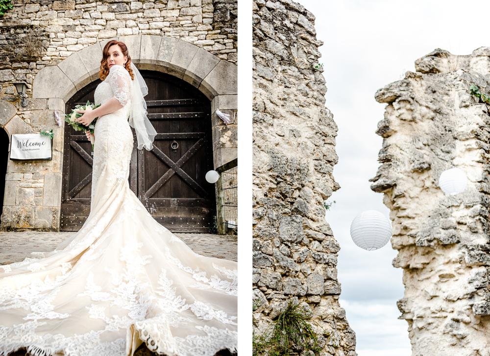 portrait de la mariée à Castres