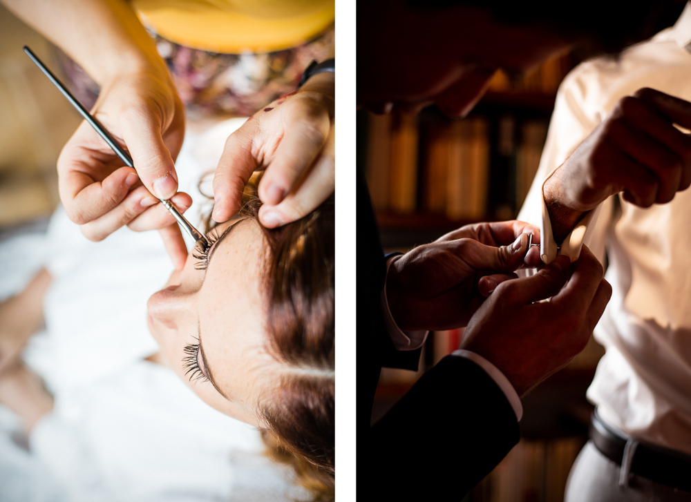 préparatifs des mariés au château de Roussillon