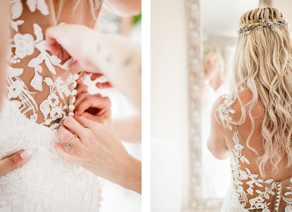 Boutons de la robe de mariée